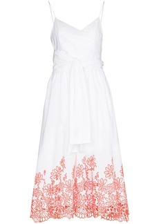 Silvia Tcherassi Calusa floral-embroidered midi dress