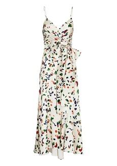 Silvia Tcherassi Calzone Printed Silk Slip Dress