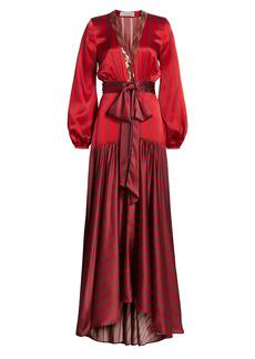 Silvia Tcherassi Connie Striped Wrap Dress