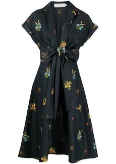 Silvia Tcherassi floral-embroidered shirt dress