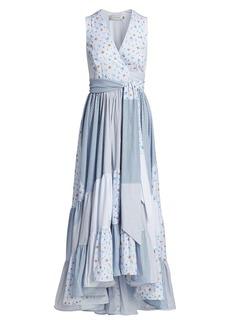 Silvia Tcherassi Harmony Patchwork Midi Dress