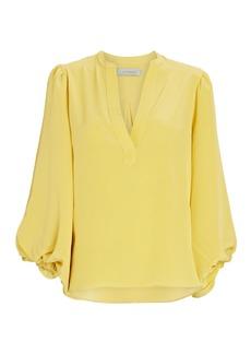 Silvia Tcherassi Sanford Silk Puff Sleeve Blouse