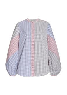 Silvia Tcherassi - Women's Filia Patchwork Checked Cotton Top - Multi - Moda Operandi