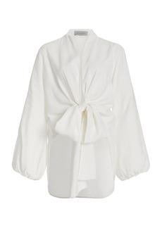 Silvia Tcherassi - Women's Honey Poplin Wrap Top - White - Moda Operandi