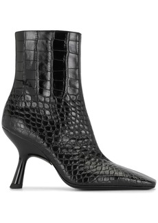 Simon Miller crocodile-effect ankle boots
