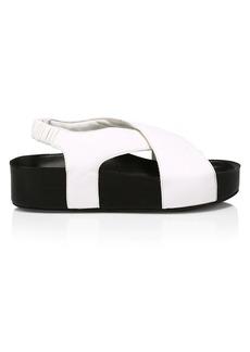 Simon Miller Dip Vegan Leather Platform Slingback Sandals