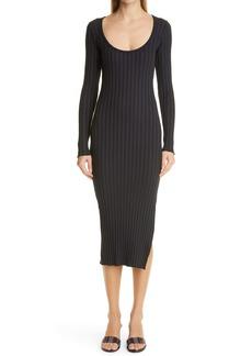 RIB by Simon Miller Noah Side Slit Long Sleeve Midi Dress