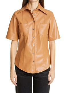 Simon Miller Bandera Faux Leather Shirt