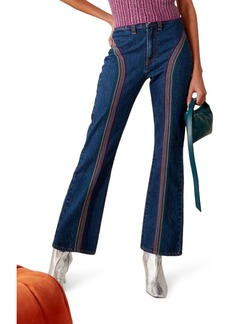Simon Miller Embroidered Bell Bottom Jeans