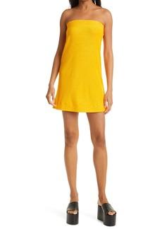 Simon Miller Poi Cotton & Modal French Terry Strapless Dress