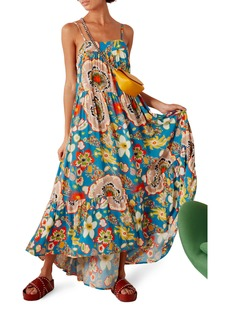 Simon Miller Pumpa Floral Print Tiered Midi Sundress