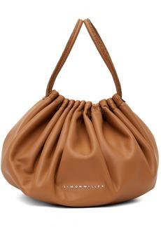 Simon Miller Tan Vegan Leather Scrunch Bag