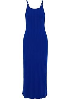 Simon Miller Woman Ribbed Tencel-blend Midi Dress Royal Blue