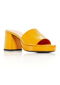 SIMON MILLER Women's Stopper Heel Platform Slide Sandals