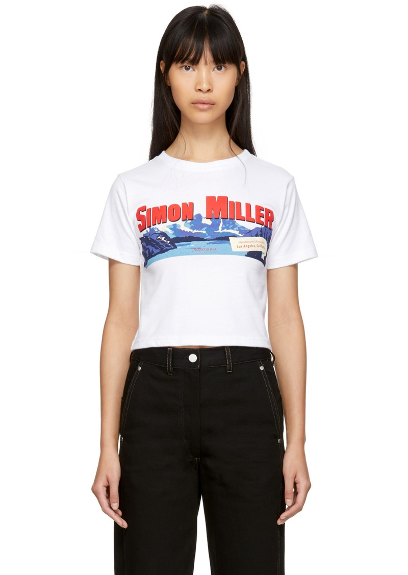 Simon Miller White Cropped Mountain Rondo T-Shirt
