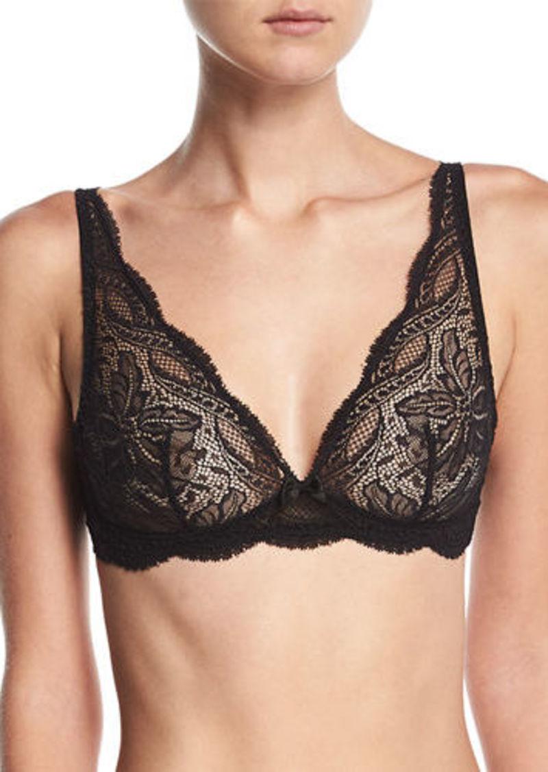 Simone Perele Eden Floral-Lace Triangle Wire-Free Soft Bra