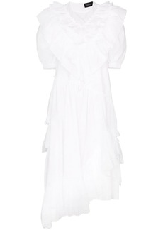 Simone Rocha asymmetrical ruffle dress