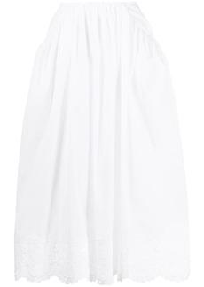 Simone Rocha broderie anglaise flared skirt