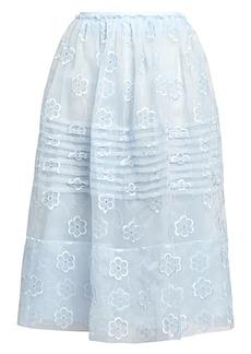 Simone Rocha Daisy Organza Midi Skirt