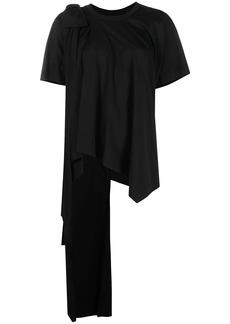 Simone Rocha draped gathered T-shirt