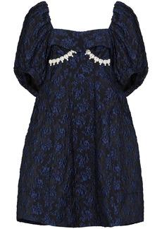 Simone Rocha embellished jacquard puff-sleeve dress