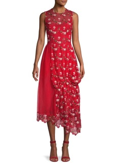 Simone Rocha Embroidered Lace Asymmetric Dress