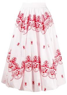 Simone Rocha embroidered mid-length skirt