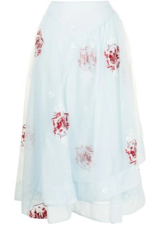 Simone Rocha embroidered tulle skirt