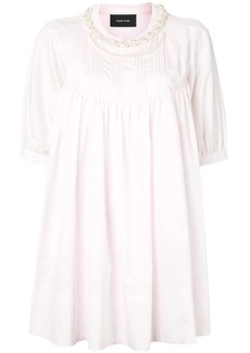 Simone Rocha faux-pearl embellished cotton blouse