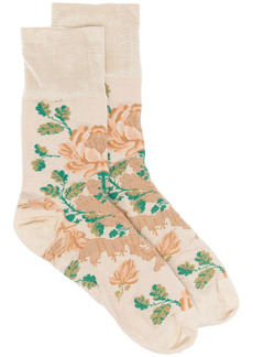 Simone Rocha floral print ankle socks