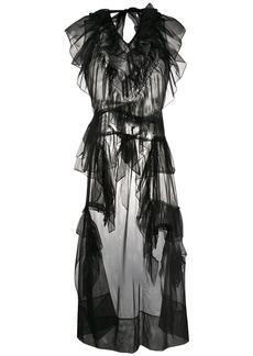 Simone Rocha frilled sheer sleeveless tunic