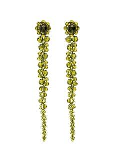 Simone Rocha Green Drip beaded earrings