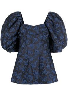 Simone Rocha floral-jacquard blouse