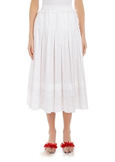 Simone Rocha Lace-Trim Pleated Midi Skirt