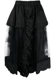 Simone Rocha layered tulle midi full skirt