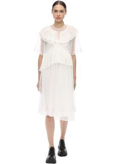 Simone Rocha Little Lace Tiered Dress W/ Ruffles