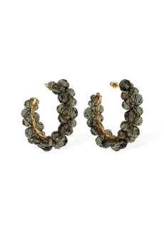 Simone Rocha Medium Wiggle Crystal Hoop Earrings
