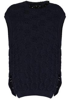 Simone Rocha open-knit oversized vest