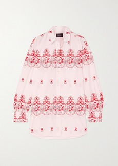 Simone Rocha Oversized Embroidered Cotton-poplin Shirt