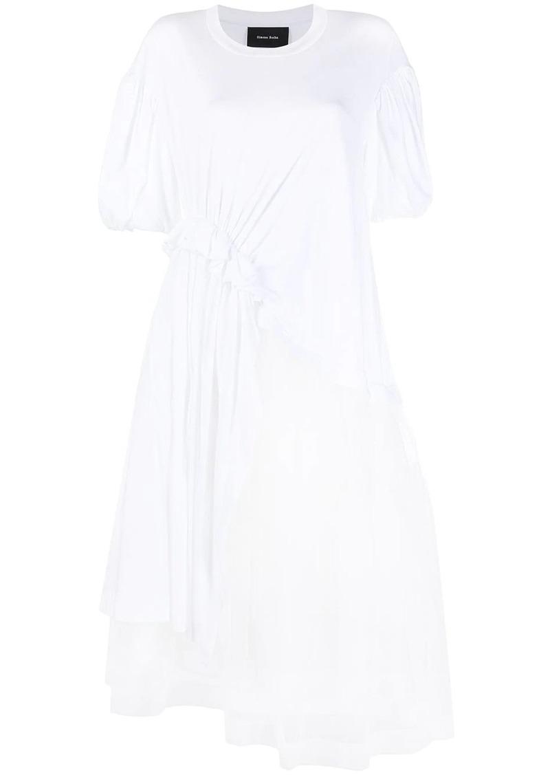 panelled mid-length dress