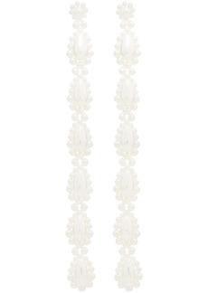 Simone Rocha pearl drop long earrings