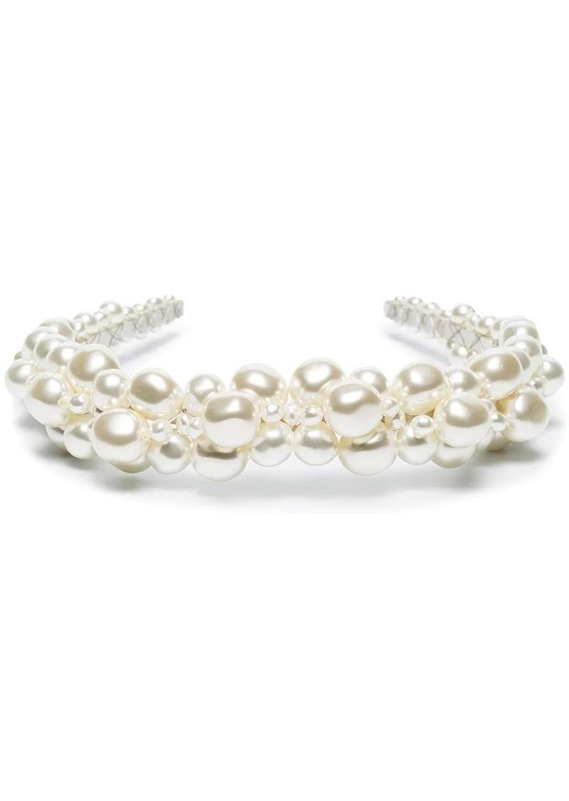 pearl-embellished headband