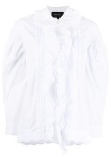 Simone Rocha ruffled cotton shirt