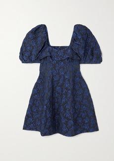 Simone Rocha Ruffled Cloque Mini Dress