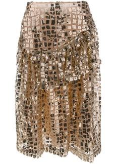 Simone Rocha ruffled sequin skirt