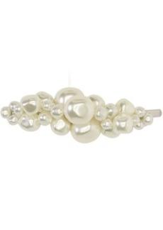 Simone Rocha Silver Pearl Chunky Baroque Hair Clip