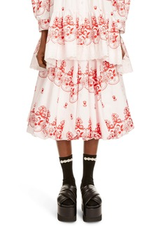 Simone Rocha Bell Embroidered Skirt
