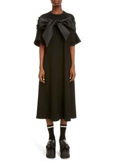 Simone Rocha Bow Detail Midi T-Shirt Dress