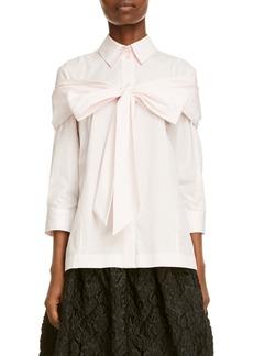 Simone Rocha Bow Detail Poplin Button-Up Shirt
