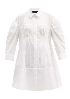 Simone Rocha Corset cotton-poplin shirt dress